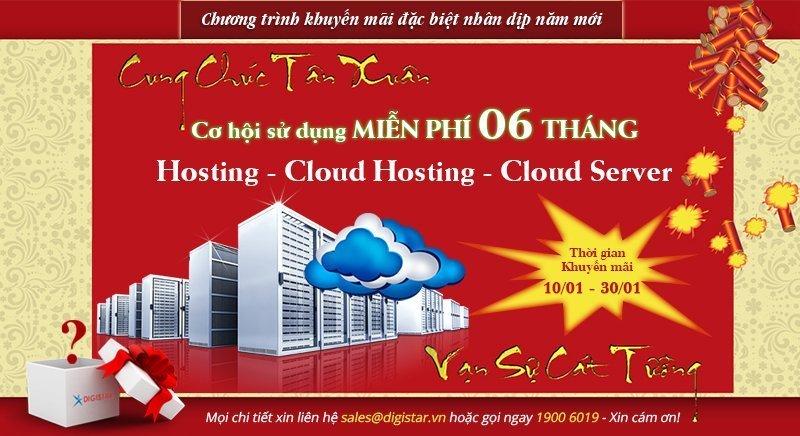 Khuyến mãi tết Cloud Server. Cloud Hosting
