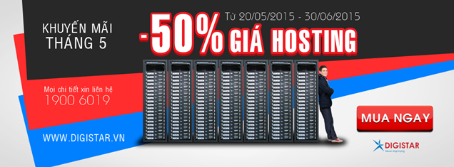 Digistar giảm giá hosting 60%